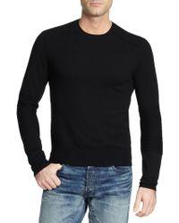 Ralph Lauren Black Label Merino Crewneck Sweater - Lyst