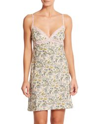 Liberty Floral Chemise multicolor - Lyst