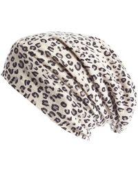 Autumn Cashmere Leopard Print Cashmere Beanie - Multicolor