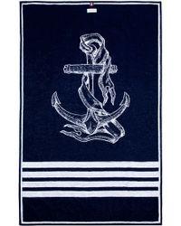 Thom Browne Navy Anchor Beach Towel - Lyst