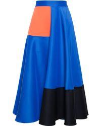 Roksanda Ilincic Silk Blend Colour Block Skirt - Lyst