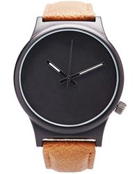 Forever 21 Faux Leather Analog Watch - Black