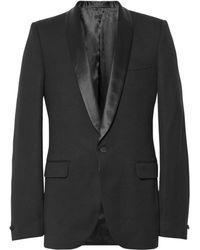 Alexander McQueen Slimfit Satintrimmed Wool Tuxedo Jacket - Lyst