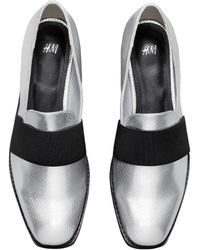 H&M Silver Loafers - Metallic
