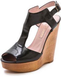 Jill Stuart - Myrtle T Strap Sandals White - Lyst