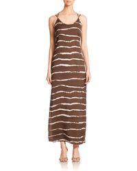 Halston Heritage Printed Maxi Dress - Lyst