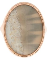 Monique Péan - Fossilised Walrus Ivory & Rose-Gold Ring - Lyst