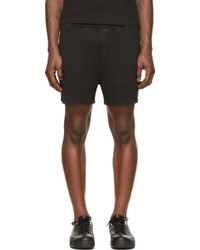 DSquared2 Black and White New Fit Dan Caten Shorts - Lyst