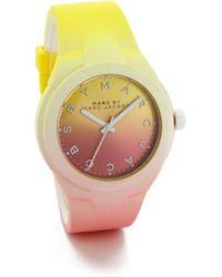 Marc By Marc Jacobs X-Up Watch - Yellow/Pink - Lyst