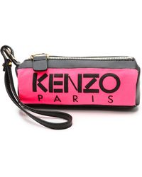 Kenzo Canvas Mini Pouch - Rose Begonia - Lyst