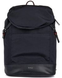 Paul Smith Grosgrain and Leather Backpack - Lyst