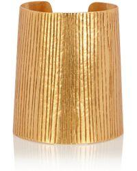 Herve Van Der Straeten Textured Gold-Plated Cuff - Lyst