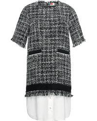 MSGM Contrasting Hem Tweed Dress - Lyst