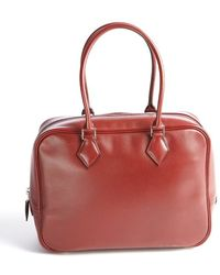 Hermes Preowned Rouge Box Plume 28cm Bowler - Lyst