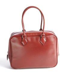 Hermès Preowned Rouge Box Plume 28Cm Bowler - Lyst
