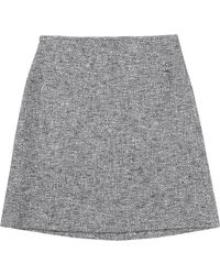 HUGO Skirt 'Relini-4' In A Cotton Blend - Blue