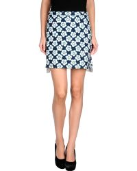 Miu Miu Gray Mini Skirt - Lyst
