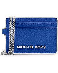 MICHAEL Michael Kors Jet Set Leather Travel Metro Pass Case - Lyst