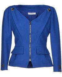 Versace Blue Blazer - Lyst