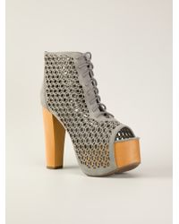 Jeffrey Campbell Perforated Booties - Lyst