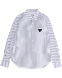 Play Comme des Garçons Broad Stripe Shirt - Lyst