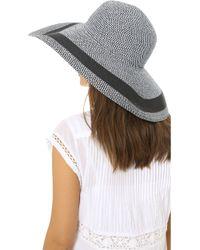 Club Monaco Elizabina Floppy Hat - Black/White black - Lyst