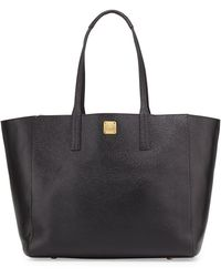 MCM - Shopper Project Reversible Leather Tote Bag - Lyst