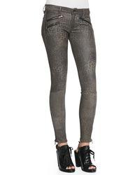 Rag & Bone Rbw 23 Leopardprint Leather Pants Leopard Leather 31 - Lyst