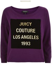 Juicy Couture La Graphic Cut-off Sweater - Lyst