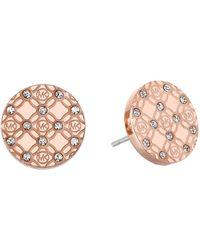 Michael Kors Monogram Stud Earrings - Lyst