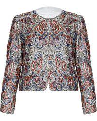 Alice + Olivia Kidman Embellished Box Jacket - Lyst
