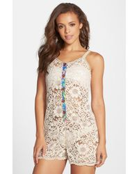 Maaji - 'Bower Fragrant' Lace Cover-Up Romper - Lyst