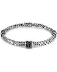 John Hardy Classic Chain Four Station Chain Bracelet silver - Lyst