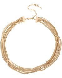 Kenneth Cole Goldtone Snake Multi-chain Necklace - Metallic