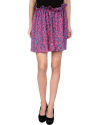 See By Chloé Purple Mini Skirt - Lyst