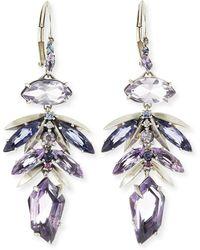 Alexis Bittar Fine | Amethyst Leaf Cluster Drop Earrings | Lyst