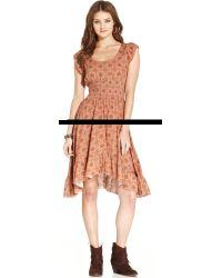 American Rag - Printed Highlow Dress - Lyst