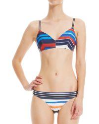 Clover Canyon Painted Horizon Striped Bikini Set - Multicolour