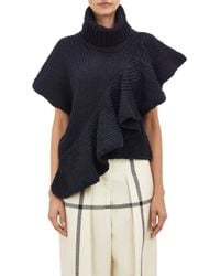 3.1 Phillip Lim Ruffle Chunky Pullover Sweater - Lyst