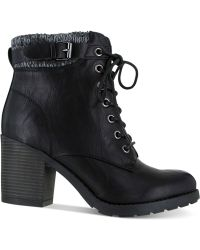 Mia Black George Booties - Lyst