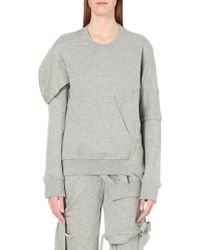 Nicopanda | Deconstructed Cotton-jersey Sweatshirt | Lyst