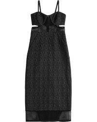 Jonathan Simkhai Dress With Mesh And Cut-Out Detail - Lyst