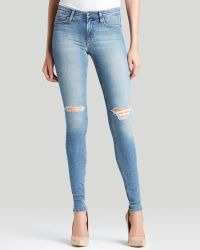 Joe's Jeans - Flawless Mid Rise Skinny Distressed in Bernnie - Lyst