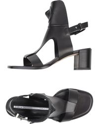 Camilla Skovgaard Cone T Bar City Sandals Black - Lyst