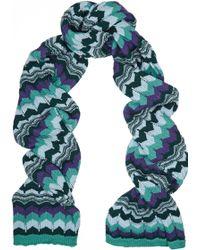 Missoni Crochet-knit Wool-blend Scarf - Lyst