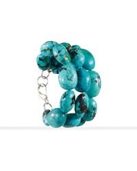 Ralph Lauren Turquoise Triplerow Bracelet - Lyst
