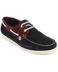 Faguo Navy And Plum Suede Larch Boat Shoes - Lyst