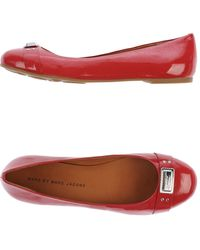 Marc By Marc Jacobs Pink Ballet Flats - Lyst