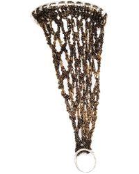 Arielle De Pinto | Chain Interlocking Ring Bangle | Lyst