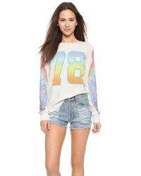 Wildfox Parrot Hop Sweatshirt - Vintage Lace - Lyst